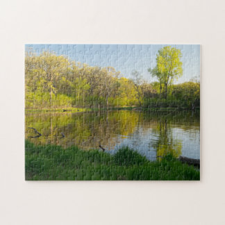 Pond and Lush Forest of Battle Creek Park Puzzles