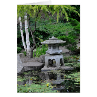Pond and Water Feature Scene Greeting Card