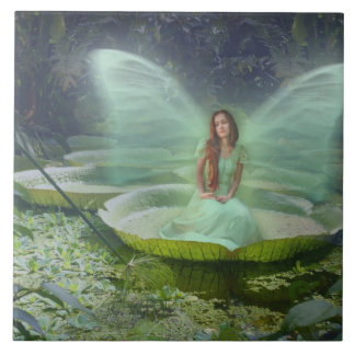 Pond Fairy Large Square Tile