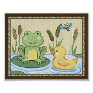 Pond Friends, Wiggle Bugs, Frog and Duck Poster