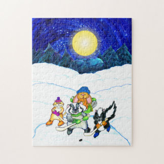 Pond hockey night puzzle