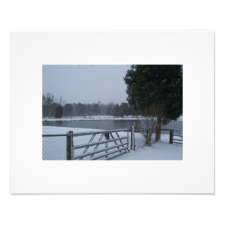 Pond in the snow photographic print