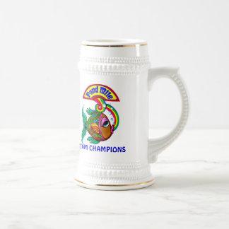 Pond Mile 4 Team Champions Logo Beer Stein