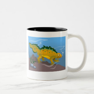 Pond Newt Two-Tone Coffee Mug