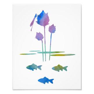 Pond Silhouettes Photo Print