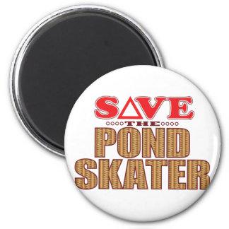 Pond Skater Save 6 Cm Round Magnet
