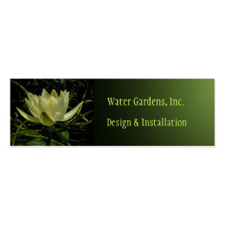 Pond & Water Gardens Business Card