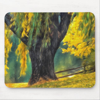 Pond Willows Painting of Fiddletown California Mouse Pad