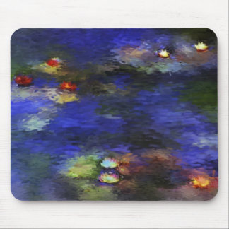 Pond with Lilies Inspired by Monet Mouse Pad