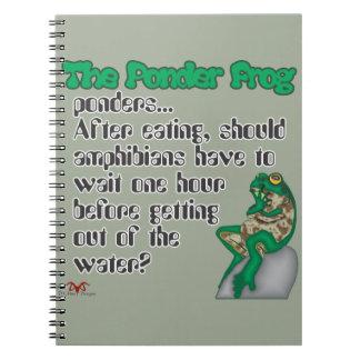 Ponder Frog  Amphibians Notebooks