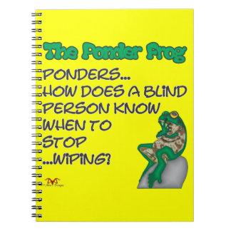 Ponder Frog Blind Spiral Note Books