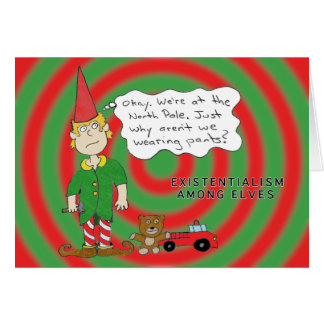 Pondering Elf Card