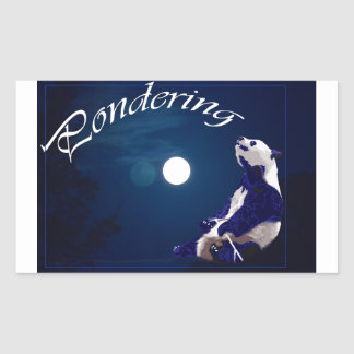 Pondering Panda Rectangular Sticker