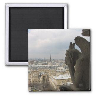 Pondering Parisian Gargoyle Magnet