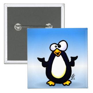 Pondering Penguin 15 Cm Square Badge