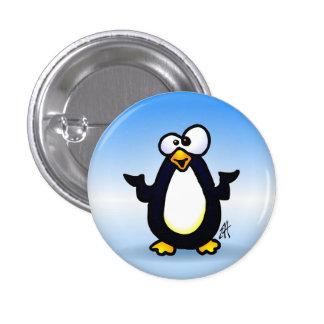 Pondering Penguin 3 Cm Round Badge
