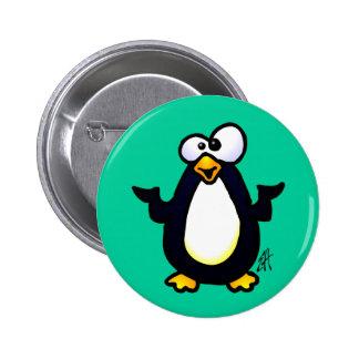 Pondering Penguin 6 Cm Round Badge