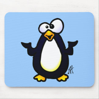 Pondering Penguin Mouse Pad