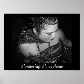 Pondering Persephone Poster Print