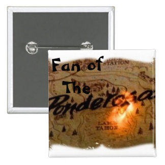 ponderosa map burning, Fan of                  ... 15 Cm Square Badge