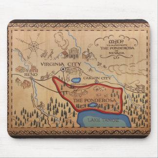 PONDEROSA MAP MOUSE PAD
