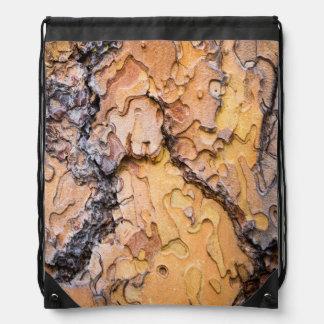 Ponderosa pine bark, Washington Drawstring Bag