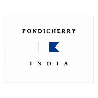 Pondicherry India Alpha Dive Flag Postcard