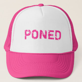 PONED TRUCKER HAT