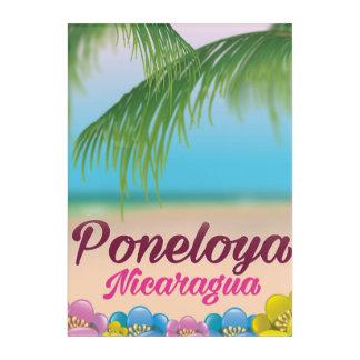 Poneloya nicaragua beach travel poster acrylic wall art