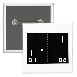 Pong 15 Cm Square Badge