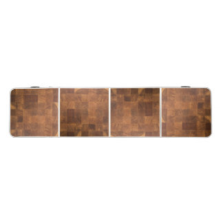 Pong Table with print of wooden board texture