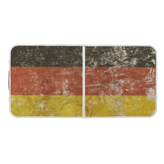 Pong Table with vintage Germany flag