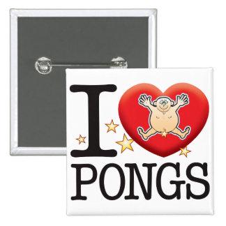 Pongs Love Man 15 Cm Square Badge