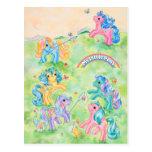 Ponies Catching Butterflies Post Card