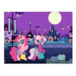 Ponies in Halloween Costumes Postcards