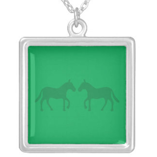 Ponies Silver Plated Necklace