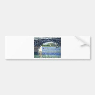 Pont d'Argenteuil by Gustave Caillebotte Bumper Sticker