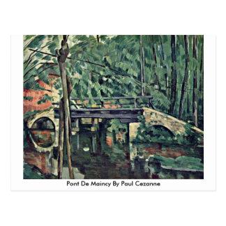 Pont De Maincy By Paul Cezanne Postcard