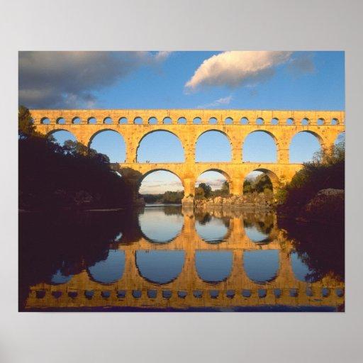 Pont du Gard, Gardon River, Gard, Languedoc, Poster