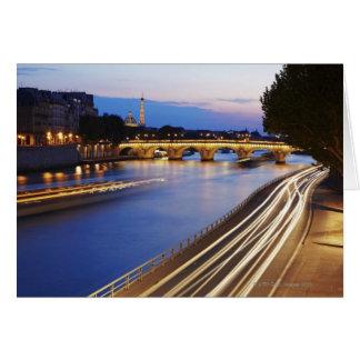 'Pont Louis Philippe' bridge and Eiffel Card