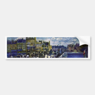 Pont-Neuf By Pierre-Auguste Renoir Best Quality Bumper Stickers