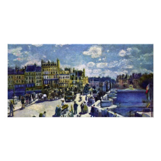 Pont-Neuf By Pierre-Auguste Renoir (Best Quality) Personalised Photo Card