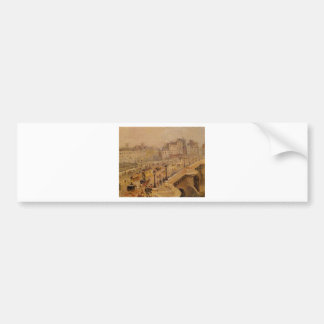 Pont Neuf Fog by Camille Pissarro Bumper Sticker
