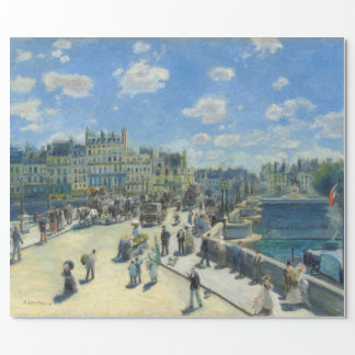 Pont Neuf Paris by Pierre-Auguste Renoir Wrapping Paper