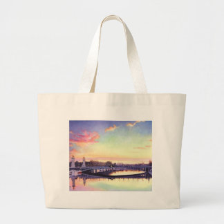 """Pont Neuf Paris"" France Watercolor Art Large Tote Bag"