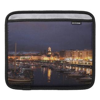 Ponta Delgada at night iPad Sleeve