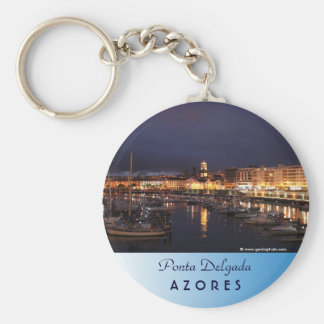 Ponta Delgada at night Key Ring