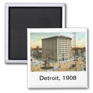 Pontchartrain Hotel, Detroit MI 1908 Vintage Fridge Magnet