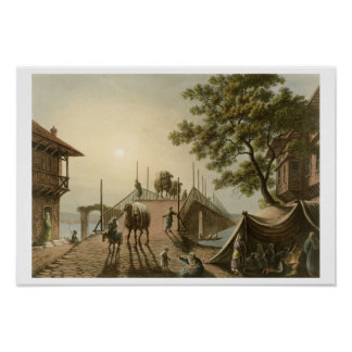 Ponte Piccolo in Romania, plate 9 from 'Views in t Poster
