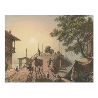 Ponte piccolo, Small Bridge in Islamic Village Postcard